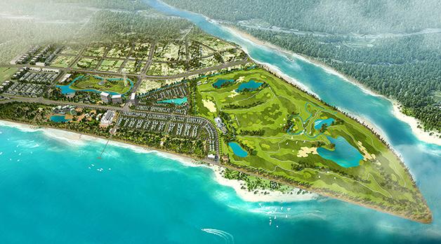 Phối cảnh tổng thể tổ hợp FLC Samson Beach & Golf Resort. Ảnh: FLC