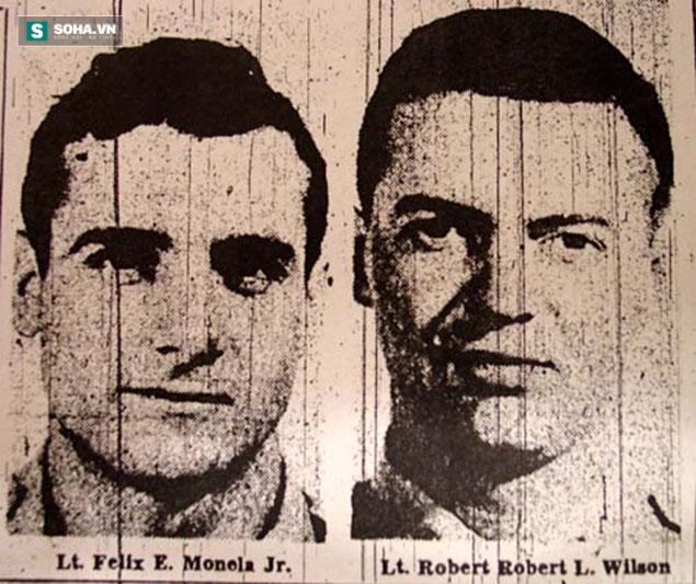 Trung úy Felix Moncla và thành viên phi đoàn là Robert L.Wilson. Ảnh: Internet.