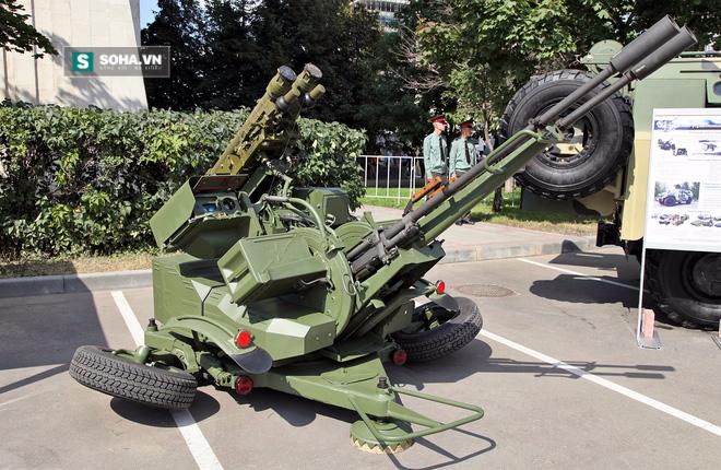 Phiên bản nâng cấp pháo cao xạ tầm thấp ZU-23-3 lên chuẩn Zu-23/30 M1-3 của Nga với 2 tên lửa Igla-S.
