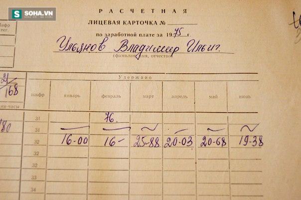 Trích một trang của sổ lương Lenin năm 1975.