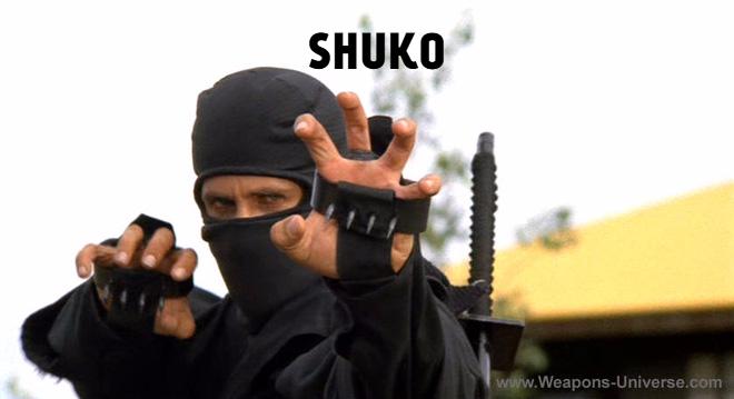 Shuko là công cụ đắc lực của Ninja. Nó giúp Ninja trèo và đỡ cú chém của đối phương.