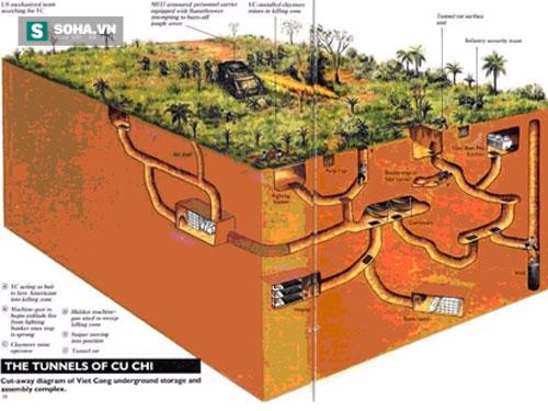 Địa đạo Củ Chi như một mê cung và vô số những cạm bẫy sẵn sàng chôn vùi đội quân Chuột cống đường hầm