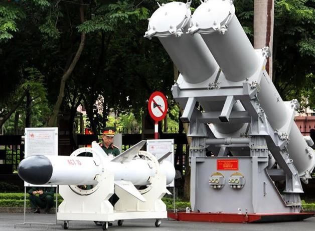 Tên lửa diệt hạm KCT-15. Ảnh: VOV.