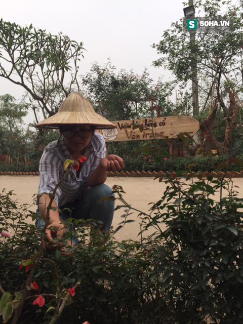Sau những bài viết, nhà báo Thu Trang lại tham gia làm vườn để mưu sinh. (Ảnh nhân vật cung cấp)