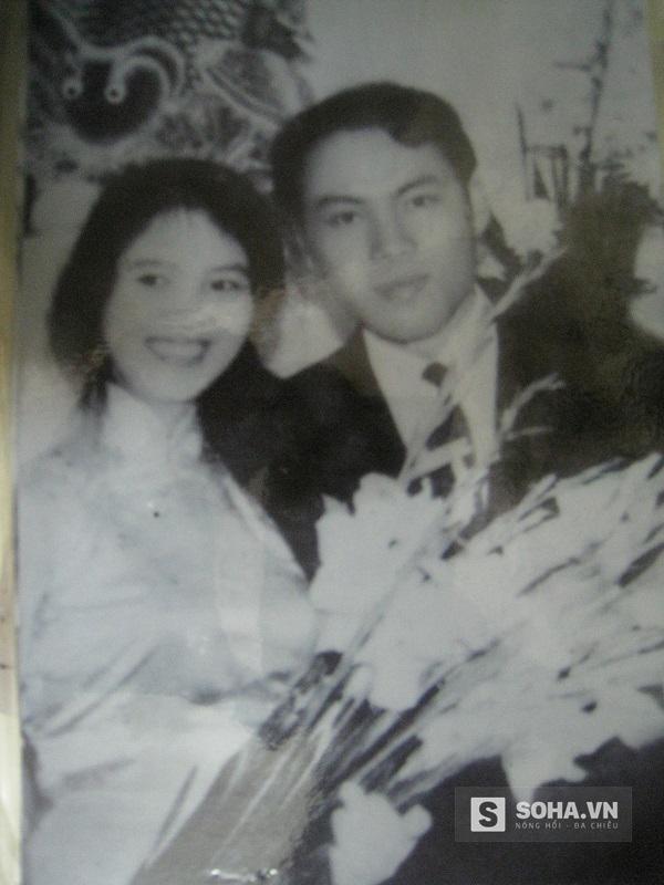 Lưu Quang Vũ và Tố Uyên ngày cưới.