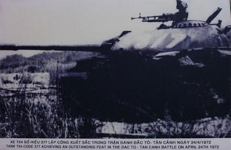 Chiếc xe tăng số hiệu 377 và kỳ tích trong trận đánh Đắc Tô - Tân Cảnh ngày 24-04-1972.