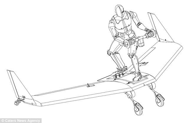 Bản vẽ ván trượt WingBoard cần có hệ thống cáp để máy bay kéo lên