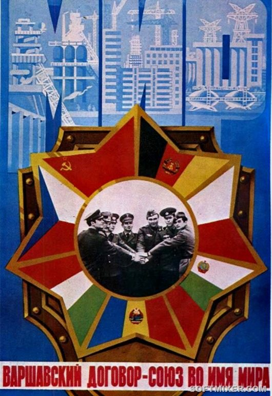 Bích chương tuyên truyền khối Hiệp ước Varsava. Ảnh: Softmixer.com