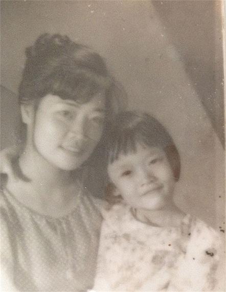 Vân Dung và mẹ.