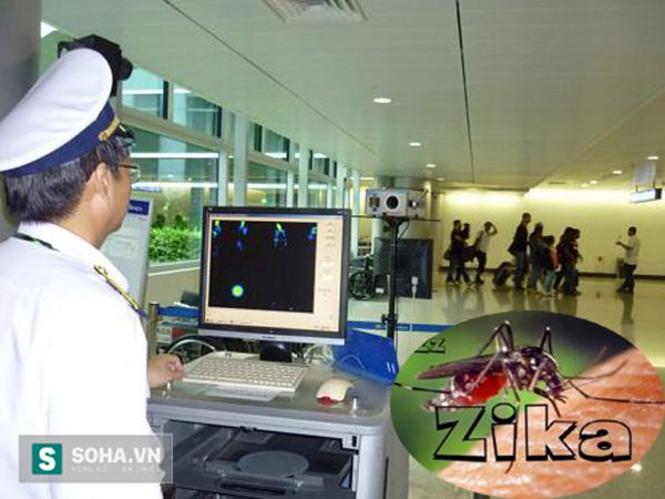 Kiểm dịch tại sân bay Tân Sơn Nhất.