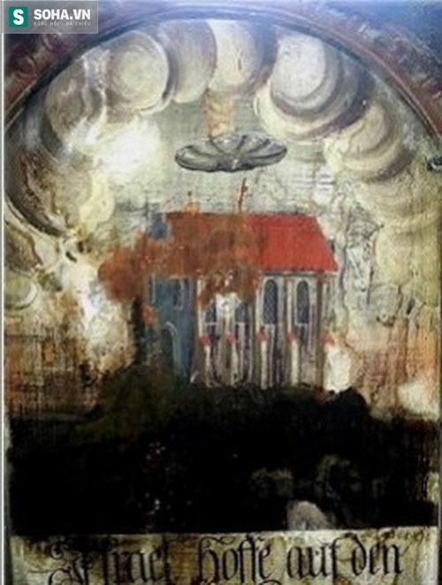 Bức tranh trong nhà thờ ở Sighisoara.