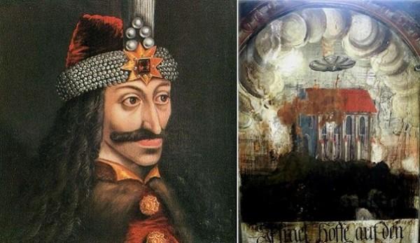 Ác quỷ Dracula và bức tranh trong nhà thờ.