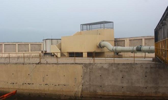 Hệ thống đường ống nước thải ở công ty Formosa Hà Tĩnh. (Ảnh: Minh Thuỳ/Tiền Phong).
