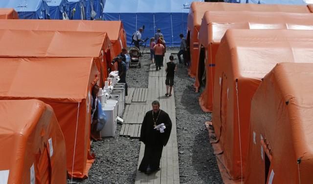 Quang cảnh khu cư trú dành cho người Ukraine tị nạn ở Rostov, miền nam nước Nga. Ảnh: Reuters