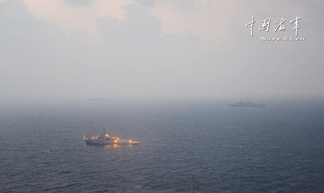 Tàu hải cảnh số hiệu 3401 của Trung Quốc hoạt động trái phép tại khu vực quần đảo Hoàng Sa của Việt Nam.