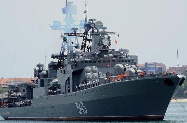 Chiến hạm Nguyên soái Shaposhnikov thuộc dự án 1155 Fregat (NATO định danh Udaloy I) được xem là một trong những tàu săn ngầm nguy hiểm bậc nhất thế giới