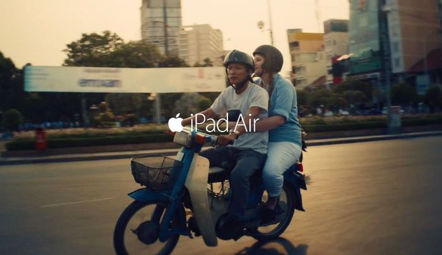 Việt Nam xuất hiện đẹp lung linh trong quảng cáo iPad Air của Apple