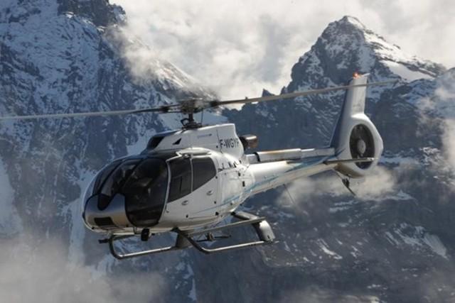 Hình ảnh chiếc trực thăng EC130 T2.