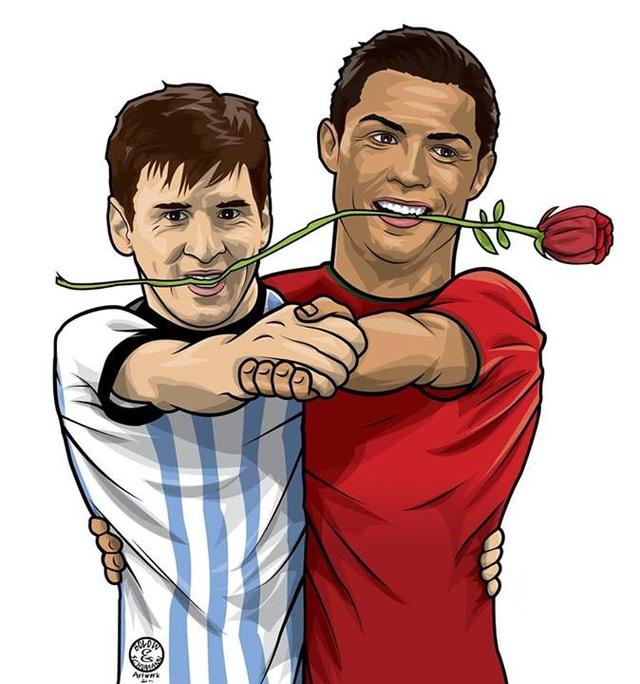 CR7 và Messi nhảy múa bên nhau