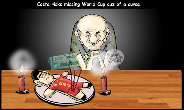 Trong khi Scolari đang ếm bùa Diego Costa