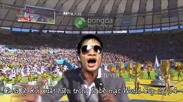 Lệ Rơi quẩy tưng bừng ở World Cup