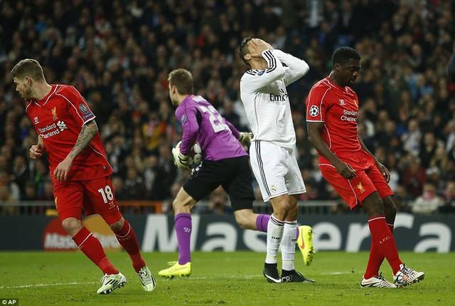 Cris Ronaldo đã bất lực trước khung thành của Liverpool