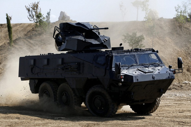 Xe bọc thép VAB MK3 do tập đoàn Renault của Pháp chế tạo.