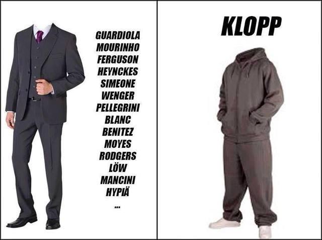Vest cho các HLV và đồ thể thao cho Klopp