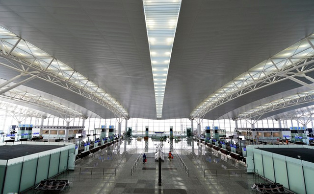 Hình ảnh nhà ga mới T2 Nội Bài (ảnh Zing)