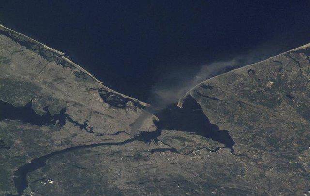 Một hình ảnh chụp bởi phi hành đoàn Expedition 3 trong ngày 11/9. Ảnh: NASA.