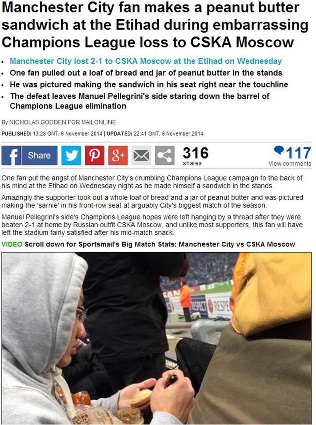 Tờ Daily Mail đưa tin về CĐV Việt Nam trên Etihad