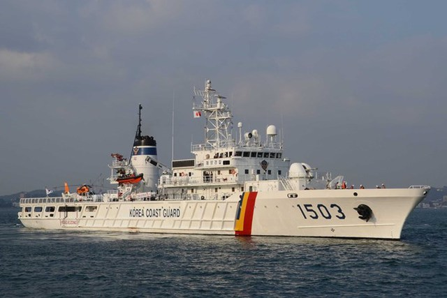 Tàu tuần tra lớp Jemin số hiệu 1503, được đóng bởi công ty công nghiệp nặng Hanjin và gia nhập biên chế năm 2000