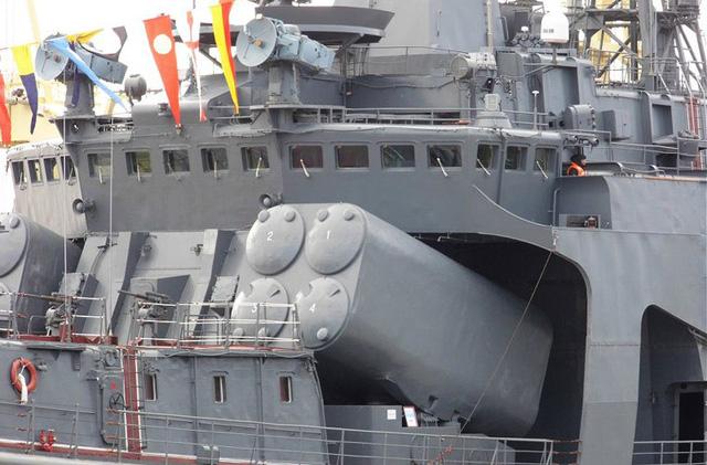 Vũ khí chính của tàu là tổ hợp Metel (SS-N-14 Silex) trang bị đạn tên lửa hành trình chống ngầm 83R/ 84R có tầm bắn 10-50 km, tốc độ Mach 0,95, đầu đạn của tên lửa là bom chìm chống ngầm hoặc ngư lôi AT-1/2