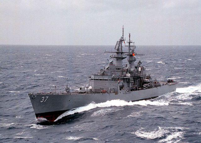 CGN-36 được hạ thủy 23/1/1970, chính thức đi vào hoạt động 16/2/1974 và bị loại biên ngày 9/7/1999. Trong khi đó chị em của nó chiếc CGN-37 South Carolina hạ thủy 1/12/1970, vào biên chế 25/1/1975 và ngừng hoạt động ngày 30/7/1999.
