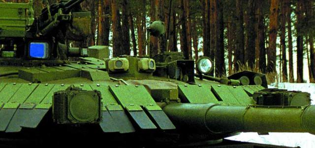 Bố trí giáp Nozh trên tháp pháo xe tăng T-84 Oplot