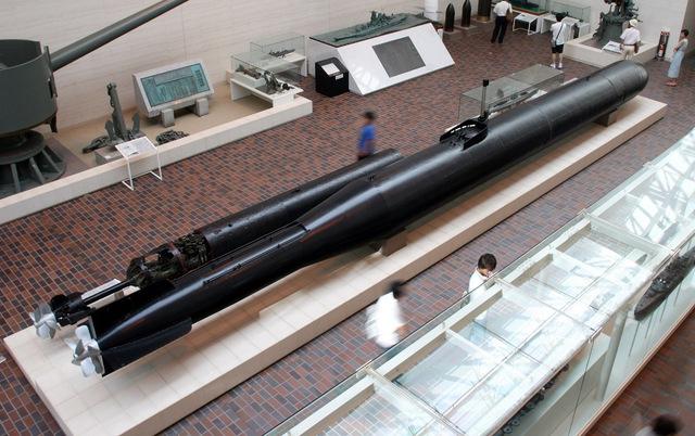 Ngư lôi Kaiten Type1 được trưng bày ở bảo tàng chiến tranh Yasukuni, Tokyo