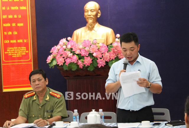 Ông Lê Trương Hải Hiếu, Phó Chủ tịch UBND quận 1 thông tin cho báo chí chiều 23/5.