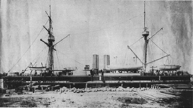 Thiết giáp hạm Định Viễn của Trung Quốc. Ảnh minh họa.