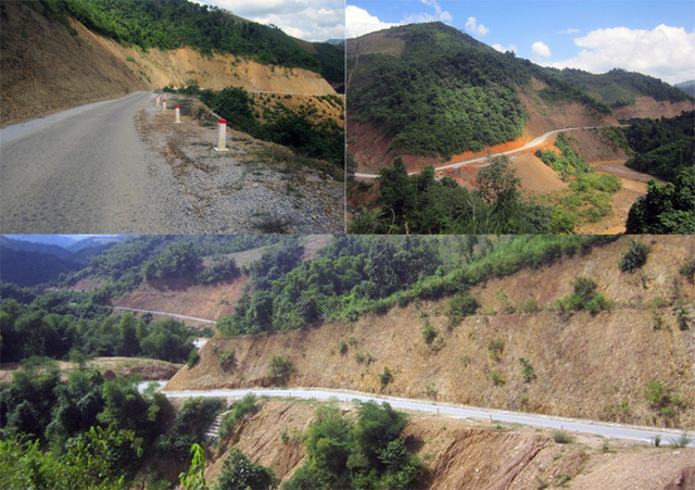 Sau 4 năm thi công, con đường này chỉ mới hoàn thành được hơn 10km.