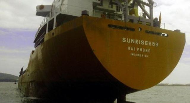 Tàu Sunrise 689. Ảnh: công ty cung cấp.