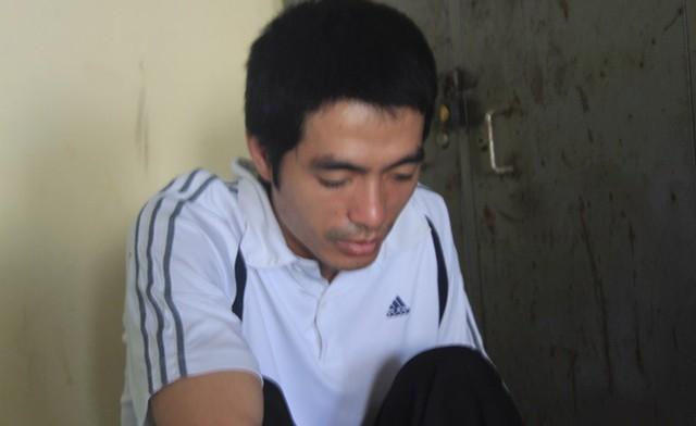 Hung thủ Nguyễn Văn Anh tại cơ quan điều tra