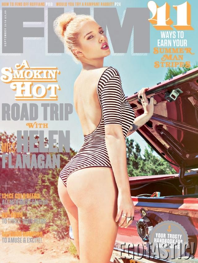 Helen Flanagan trên bìa tạp chí FHM số ra mới nhất