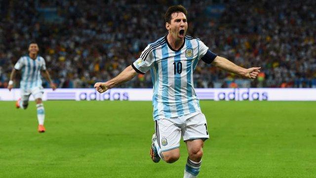 Tại Brazil, Messi tỏa sáng tại World Cup.