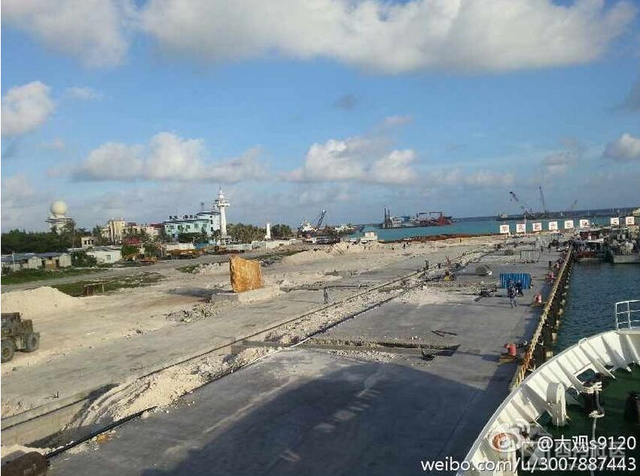 Truyền thông Trung Quốc tự nhận rằng nước này đang kiến thiết địa phương tốt đẹp, trong khi mọi hoạt động của Bắc Kinh trên đảo Phú Lâm của Việt Nam là phi pháp.