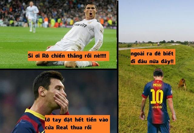 Khổ thân Messi