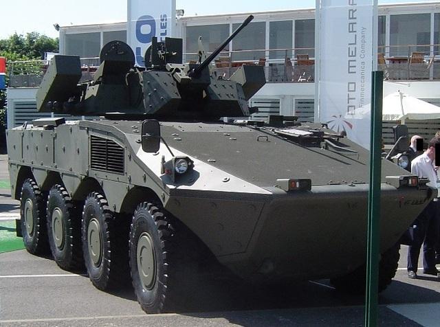 Tên lửa Spike-LR lắp trên xe thiết giáp diệt tăng FRECCIA
