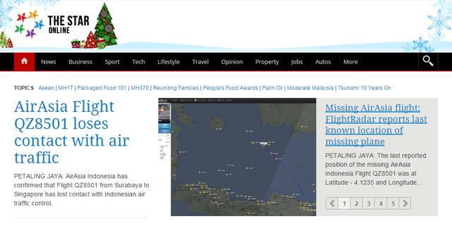 Trang The Star của Malaysia