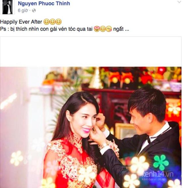 Noo Phước Thịnh - đồng nghiệp thân thiết với Thủy Tiên chia sẻ khoảnh khắc hạnh phúc của đàn chị sáng nay lên mạng xã hội.