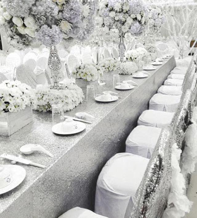 Quang cảnh nơi tổi chức tiệc cưới của Thủy Tiên - Công Vinh trước giờ G