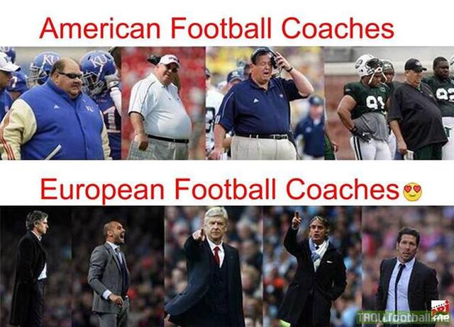 Sự khác biệt giữa HLV bóng đá và bóng bầu dục